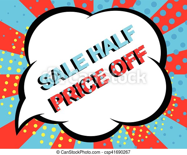 sale poster with sale half price off text advertising clip art rh canstockphoto ie  advertising clip art cd