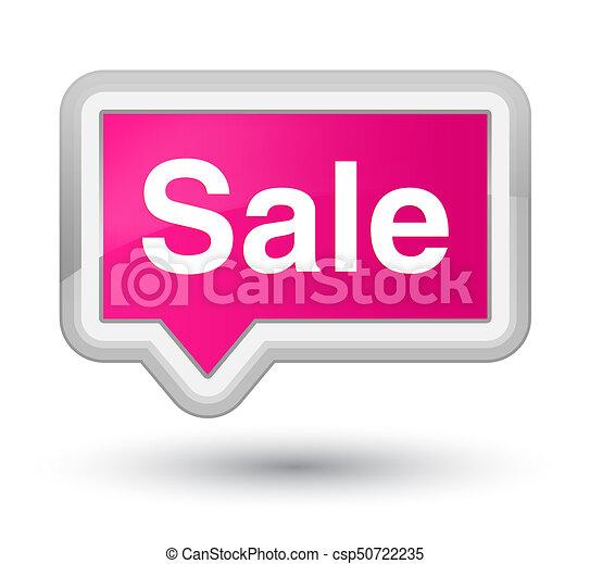 Sale prime pink banner button - csp50722235