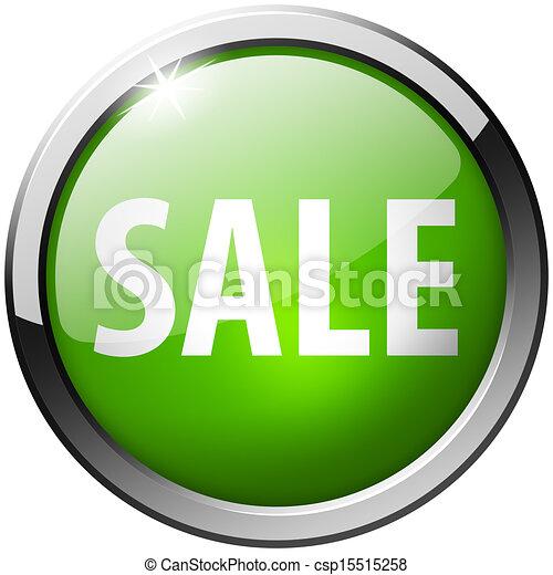 Sale Round Green Metal Shiny Button - csp15515258