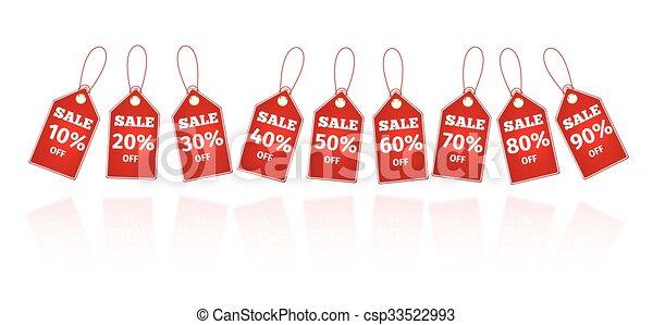sale savings labels set - csp33522993