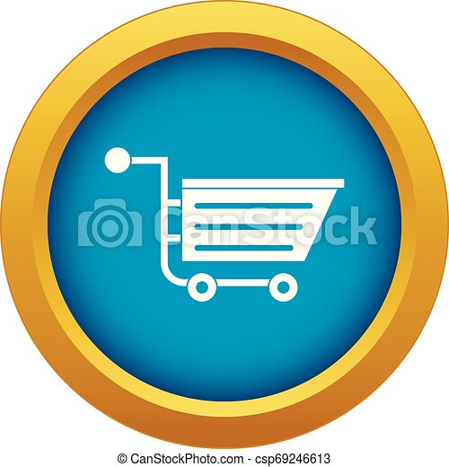 Sale shopping cart icon blue vector isolated - csp69246613
