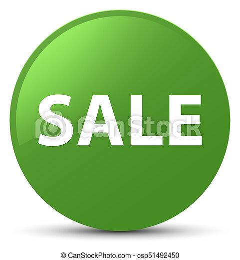 Sale soft green round button - csp51492450