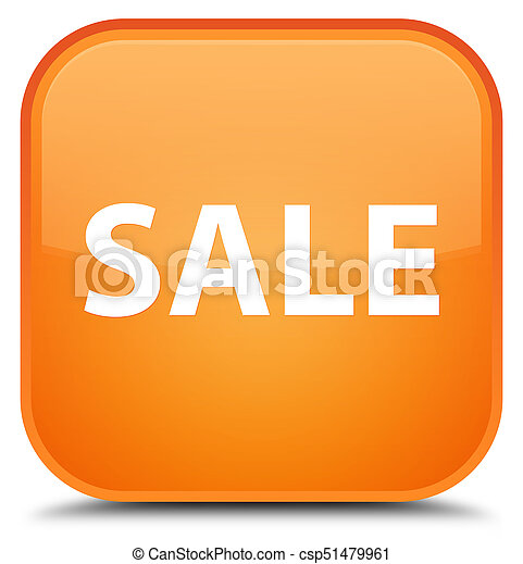 Sale special orange square button - csp51479961