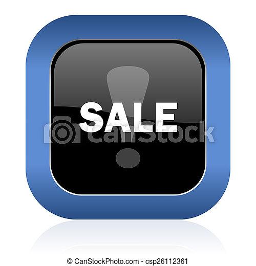sale square glossy icon - csp26112361