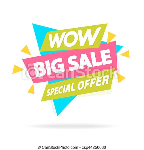 Sale sticker with sign wow big sale special offer for special offer advertisement tag sale big