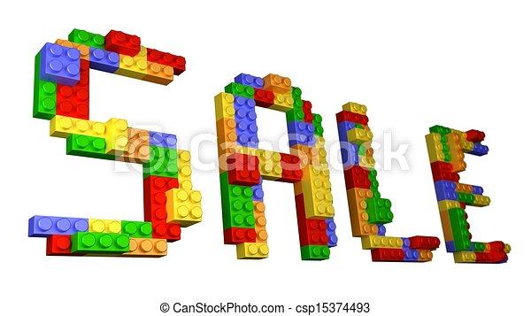 SALE - Straight Wording Bricks - csp15374493