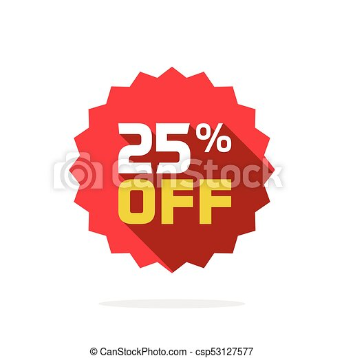 Sale Tag Vector Badge Template  Percent Off Sale Label  Vectors
