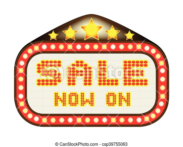 sale theatre marquee a sale now on movie theatre or theatre clip rh canstockphoto com movie marquee clipart black and white
