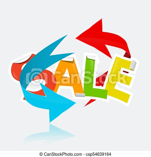 Sale Title with Arrows - csp54639164