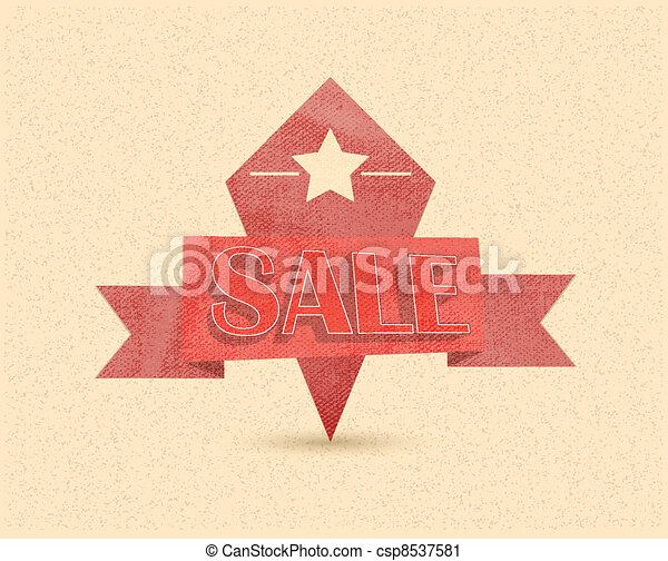 Sale Vintage Poster Vector - csp8537581