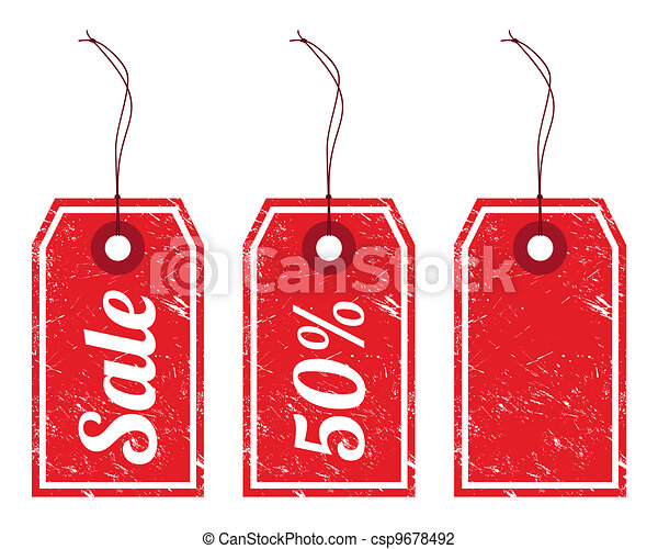 Sale vintage price tags - csp9678492