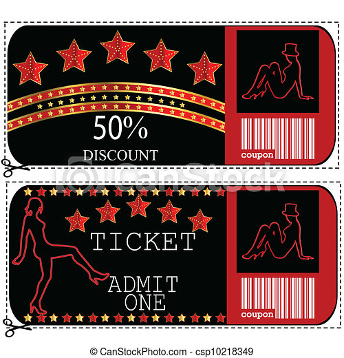 Sale voucher and ticket for night club or casino - csp10218349