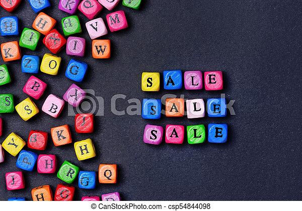 Sale word on black background - csp54844098