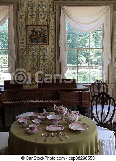Salem Towne House in Sturbridge, MA - csp38298553