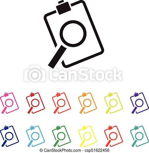 sales analysis icon set - csp51622456