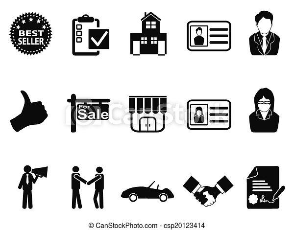 sales icon set - csp20123414