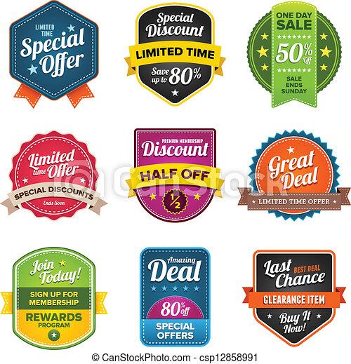 Sales labels - csp12858991