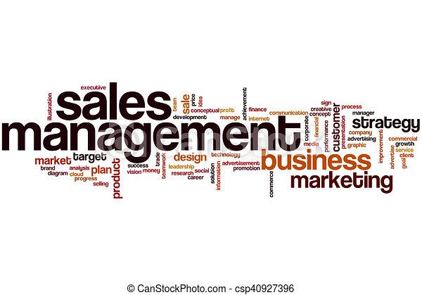 Sales management word cloud - csp40927396