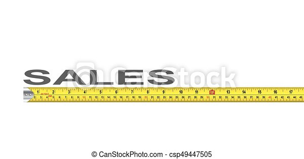 Sales Measure - csp49447505