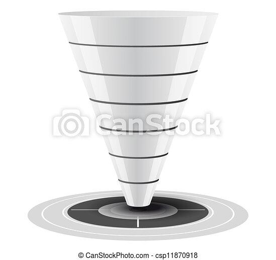 Sales or Conversion Funnel Vector  - csp11870918