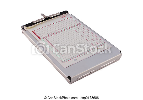 sales order form a sales order form on a metal clipboard isolated