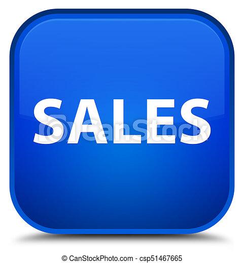 Sales special blue square button - csp51467665
