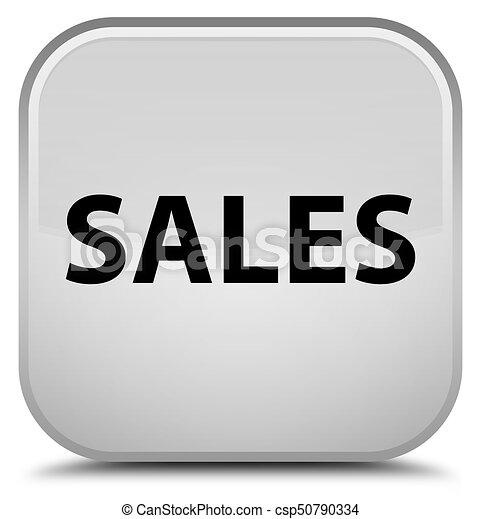 Sales special white square button - csp50790334
