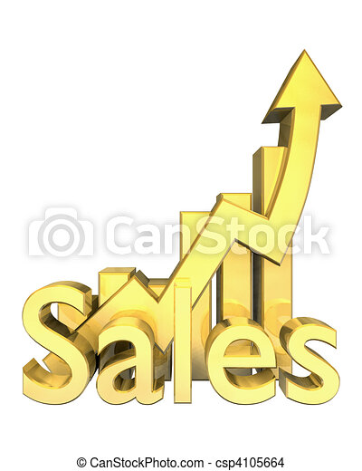 Sales statistics graphic in gold  - csp4105664
