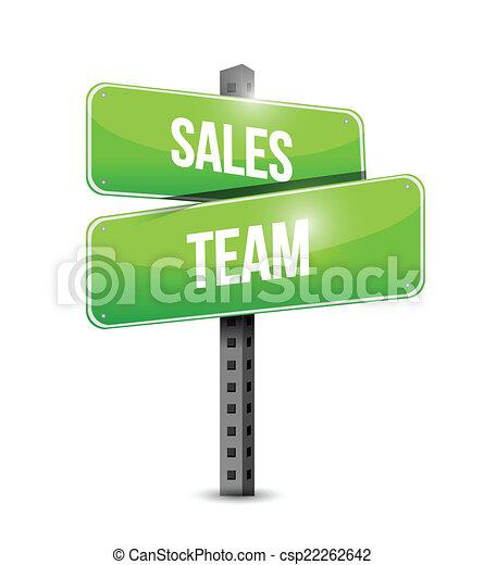 sales team sign illustration design - csp22262642