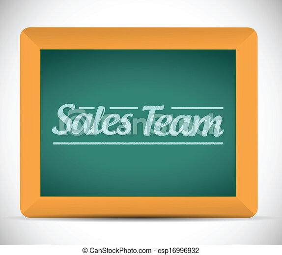 sales team sign illustration design - csp16996932
