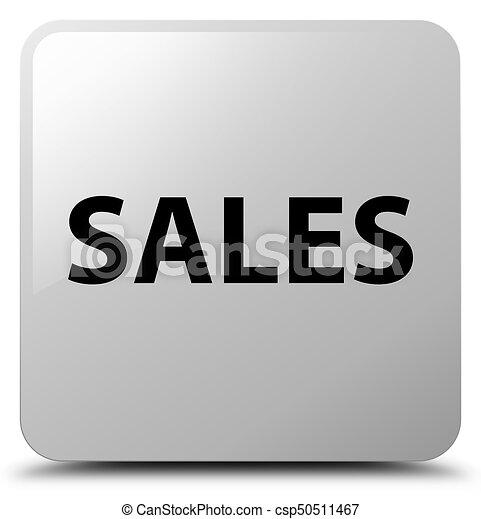 Sales white square button - csp50511467