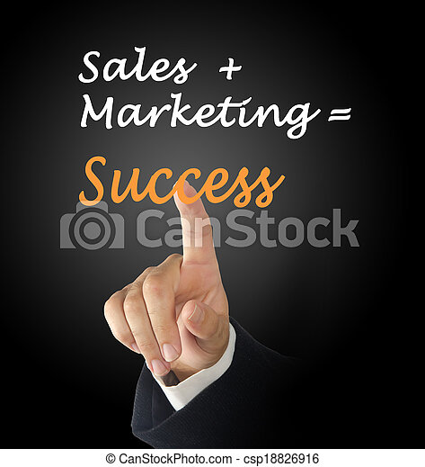 sales+marketing=success - csp18826916
