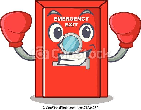 salida, carácter, puerta, boxeo, emergencia - csp74234760