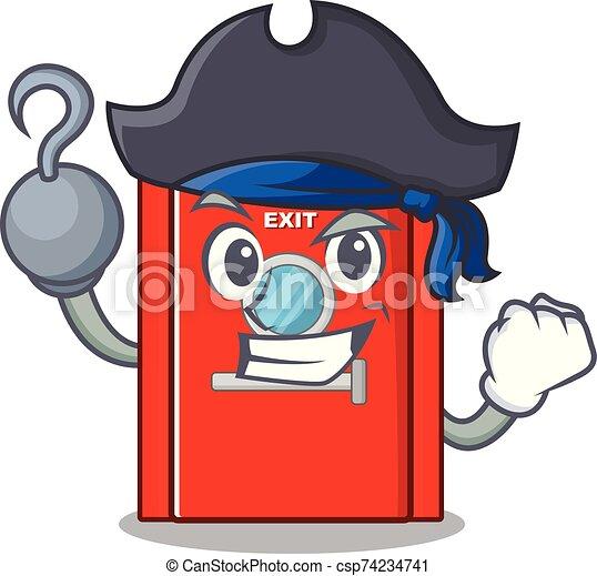 salida, carácter, puerta, emergencia, pirata - csp74234741