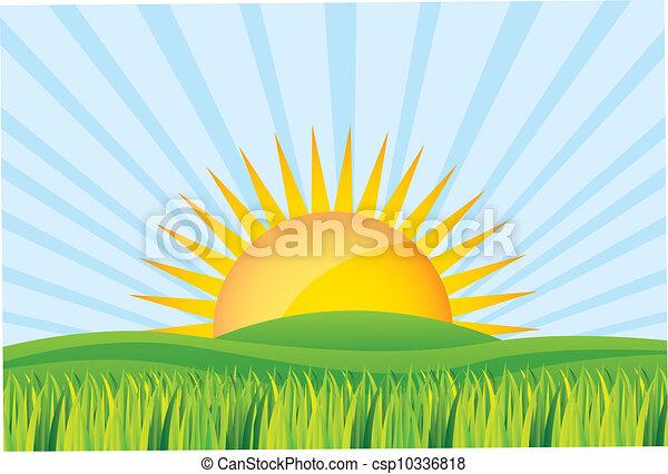 salida del sol - csp10336818