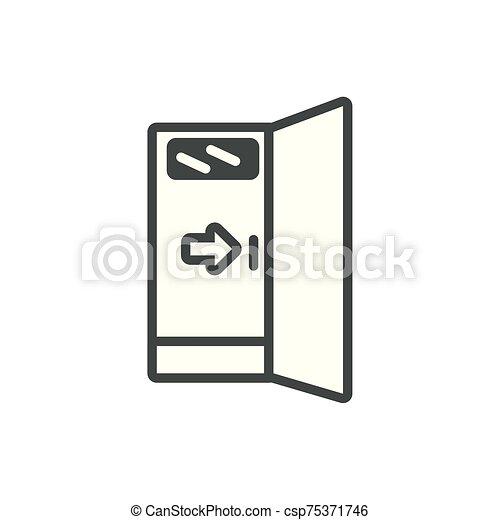 salida, línea, puerta, emergencia, seguridad - csp75371746