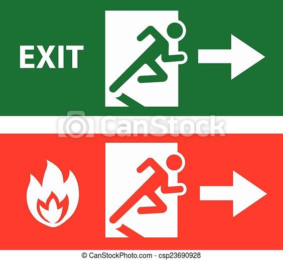 Puerta de salida de emergencia - csp23690928