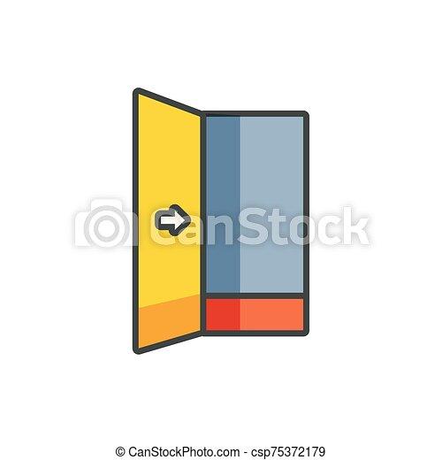 salida, relleno, puerta, emergencia, seguridad - csp75372179
