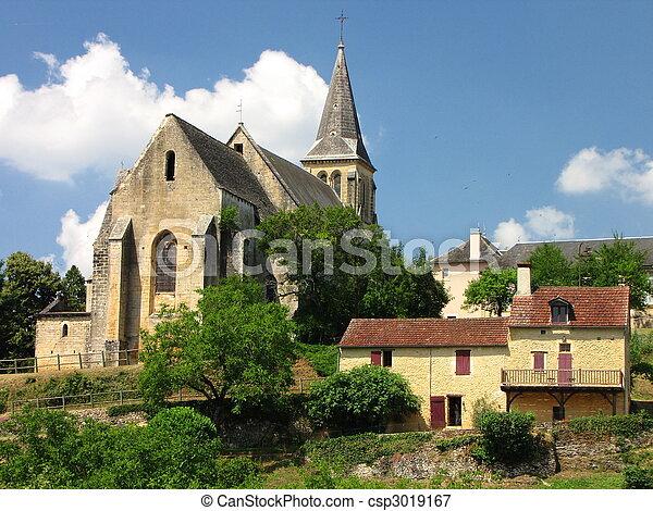 Salignac, Church - csp3019167