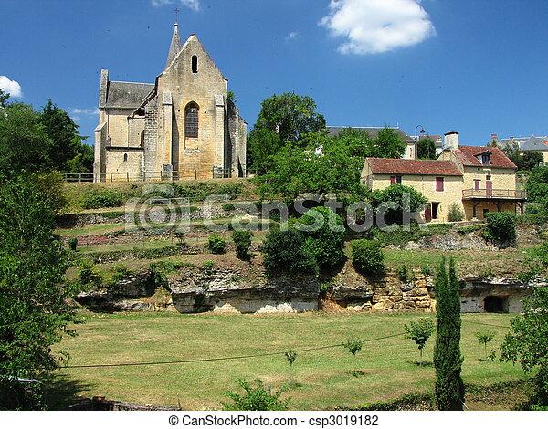 Salignac, Church, village - csp3019182