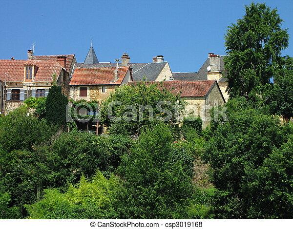 Salignac, Village - csp3019168