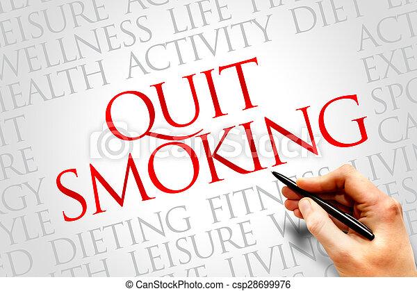 salir, fumar - csp28699976