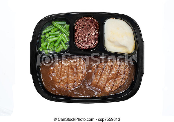 Salisbury TV dinner - csp7559813