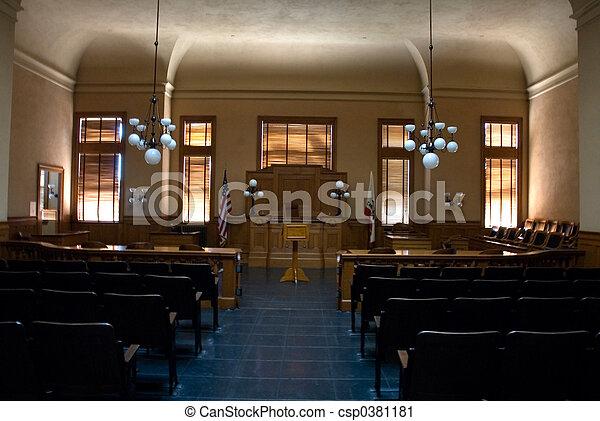 salle audience, vide - csp0381181