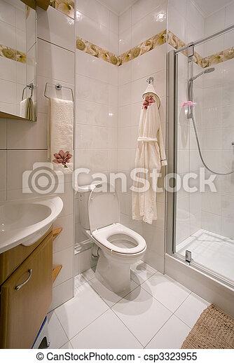 salle bains, intérieur - csp3323955