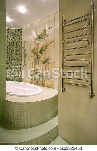 salle bains, intérieur, moderne - csp3325453