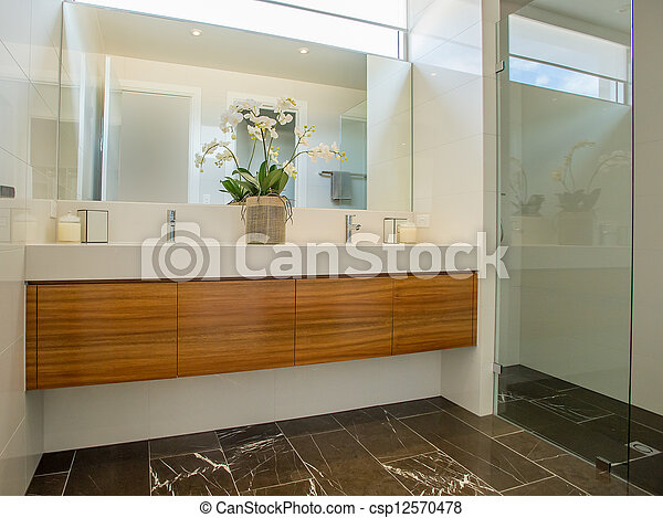 salle bains, moderne - csp12570478