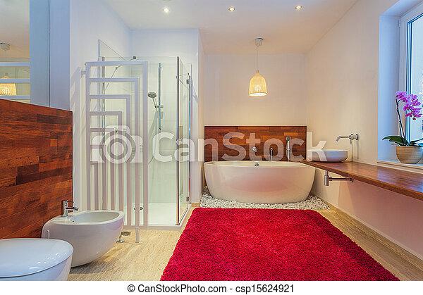 salle bains moderne moquette photo libre de droits - Moquette Salle De Bains