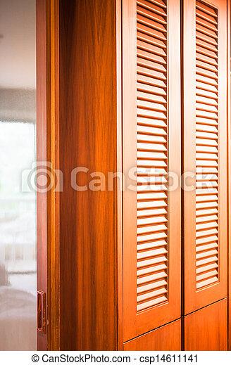 Salle Bains Placard Bois Cloison Miroir Entre Chambre  Photo