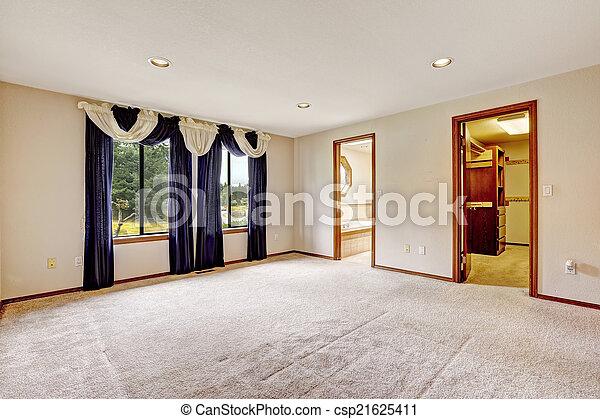 salle bains, placard, walk-in, maître, chambre à coucher, intérieur, vide